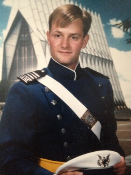 Air Force Academy cadet Ken Rizer poses for his 1987 senior portrait. After commissioning, Rizer went on to gain more than 2,700 flight hours during his extensive 25-year career. (Courtesy photo)