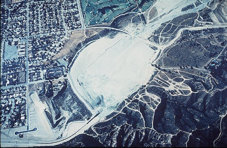 Aerial view of Lopez Dam.