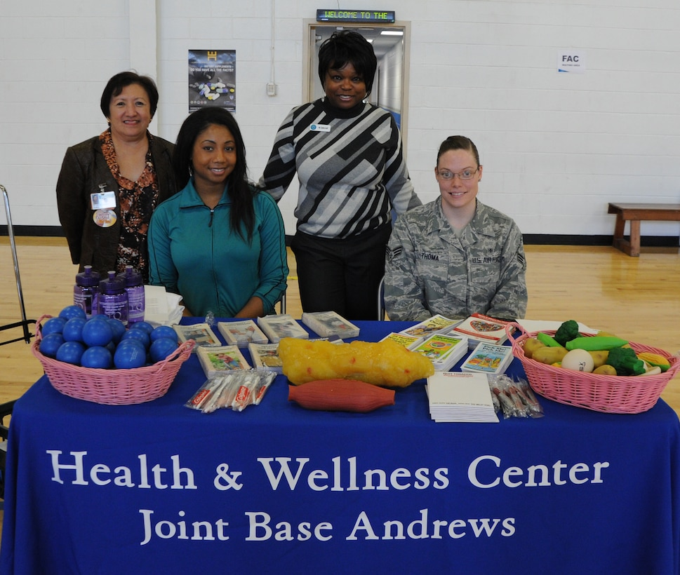 Marilou Castro, Health and Wellness Center dietician; Nicole Simpson, Health