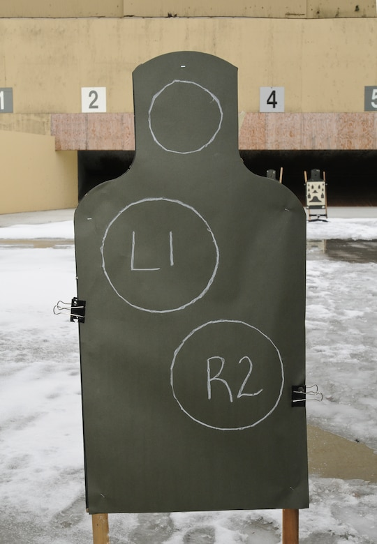 """The new """"Green Ernie"""" target which will be used in the new weapons qualification training at Fairchild Air Force Base, Wash. on March 3, 2012. (U.S. Air Force photo by Master Sgt. Mindy Gagne)"""