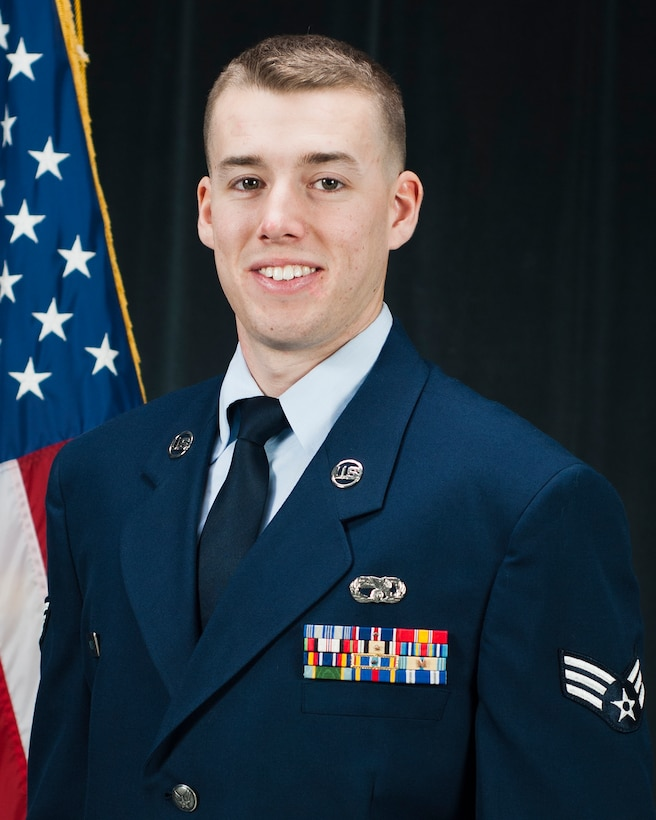 Senior Airman Ryan Weeks is the recipient of the Airman of the Year award for the 157th Air Refueling Wing, Dec. 3, 2011.  The award is presented during the N.H. Air National Guard's annual Commander's Call held in December, Pease Air National Guard Base, N.H.  Weeks is a member of the 157th Logistics Readiness Squadron (National Guard photo by Tech. Sgt. Aaron Vezeau/Released)
