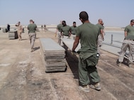 Marines conduct 40,000 square feet of airfield.
