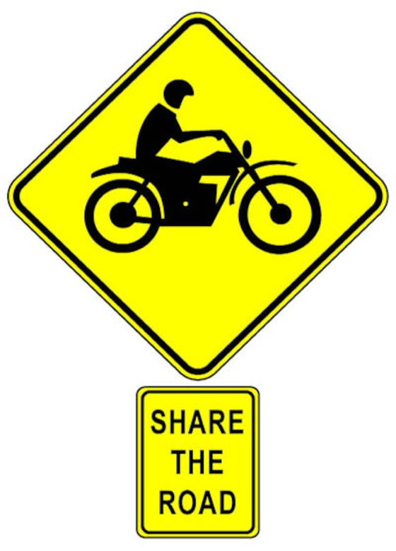 GOODFELLOW AIR FORCE BASE, Texas—With Spring's arrival, motorcyclists are again taking to the roads. Remember to always be aware of your surroundings and share the road. (Courtesy graphic)