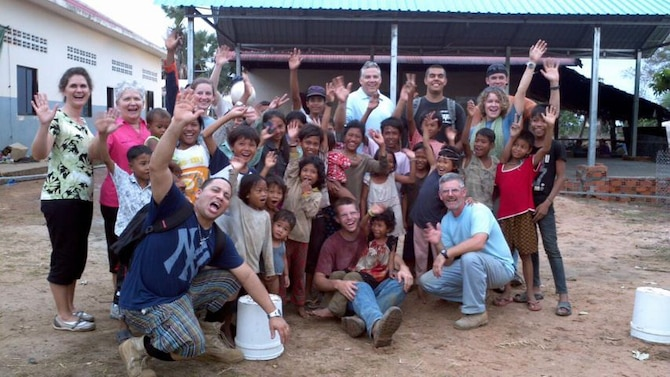 In early February, 11 Team Andersen members, including five active-duty Airmen, arrived in Cambodia to provide spiritual,emotional and medical support to the men, women and children of Four Square Children of Promise, an orphanage in the Tumnup Village. After ten days, the team extracted 88 teeth, issued 492 pairs of perscription glasses, performed five surgeries and constructed a new kitchen. (U.S. Air Force coutesty photo)