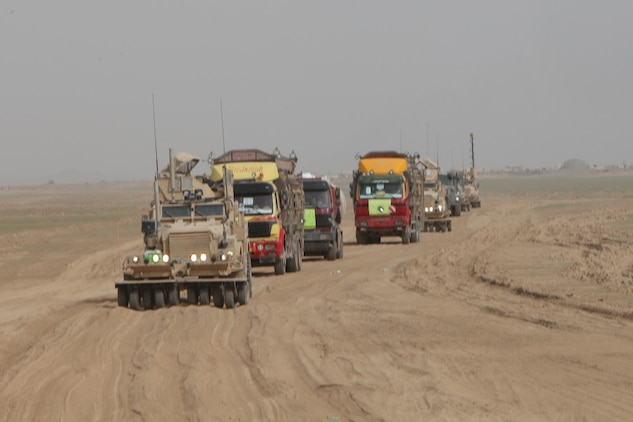Marines Escort Afghan Drivers Get Fuel To The Fight 1st