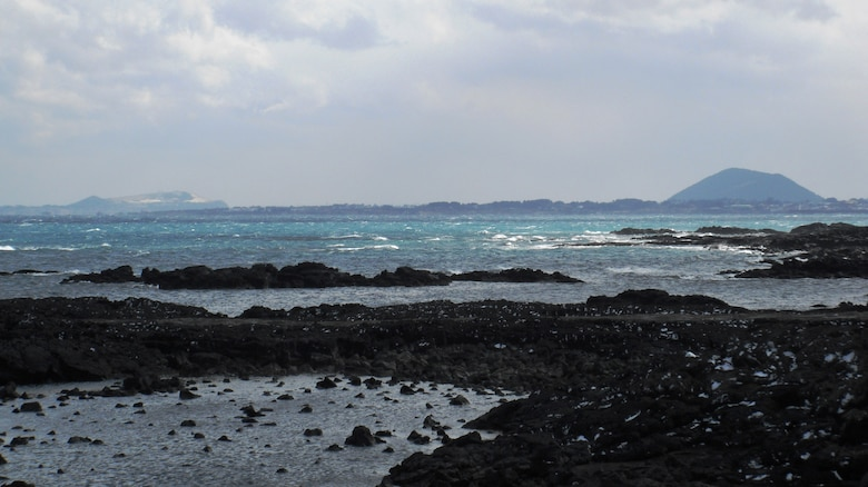View of the ocean from Route 1132 on Jeju Island, Republic of Korea. (U.S. Air Force photo/Staff Sgt. Eric Burks)