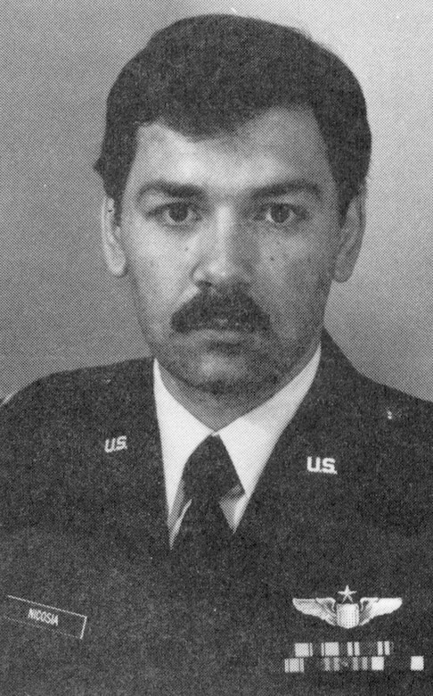 Capt. Robert J. Nicosia was born in Detroit, Mich., on Nov. 12, 1948. He entered the Air Force as a 2nd Lt. in 1973 and served as a KC-135 pilot, co-pilot, and instructor pilot until 1978 at Rickenbacker AFB, Ohio.