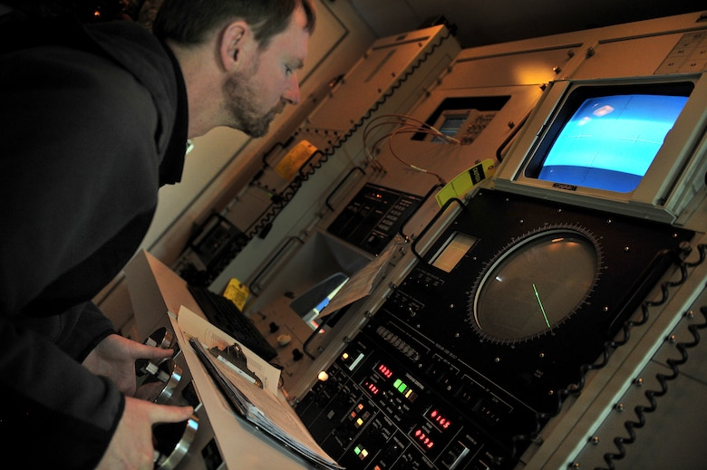 William Lockwood, 551st Special Operations Squadron electronics technician, adjusts settings on a multiple threat emitter system used to simulate possible threats faced by aircrews at Melrose Air Force Range, N.M., March 5, 2012. Melrose Range provides space for realistic training of ground and air forces and is operated by Cannon Air Force Base, N.M. (U.S. Air Force photo by Tech. Sgt. Josef Cole)