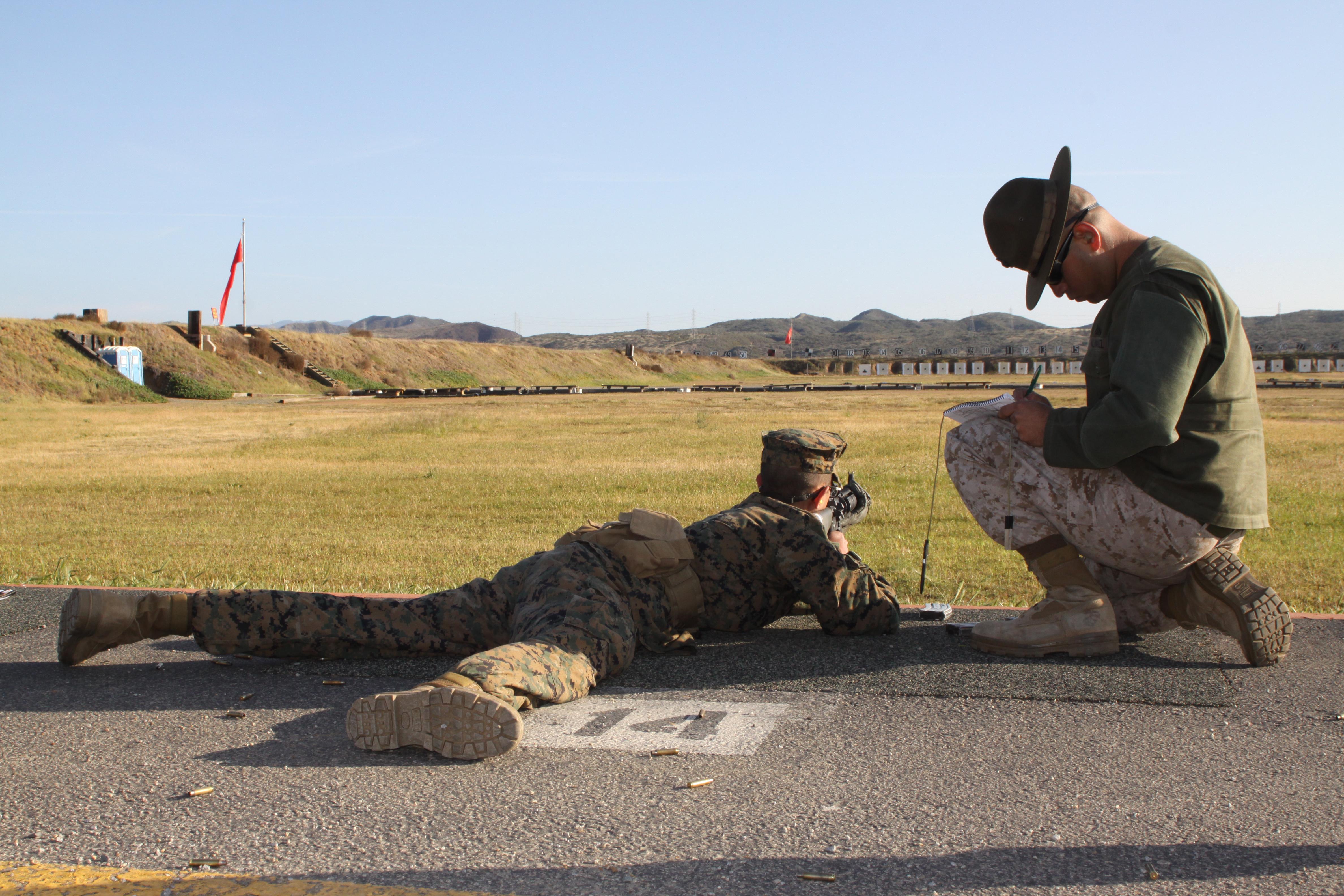 Co L recruits apply Marine Corps marksmanship skills Marine Corps