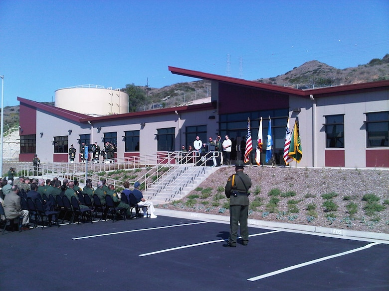 Agents and guests celebrate the ribbon cutting at the new Border Patrol Station in San Clemente. Up to 200 officers will be assigned to the 14,000 square foot station that includes 24 offices, a conference room, a muster room and a gymnasium.