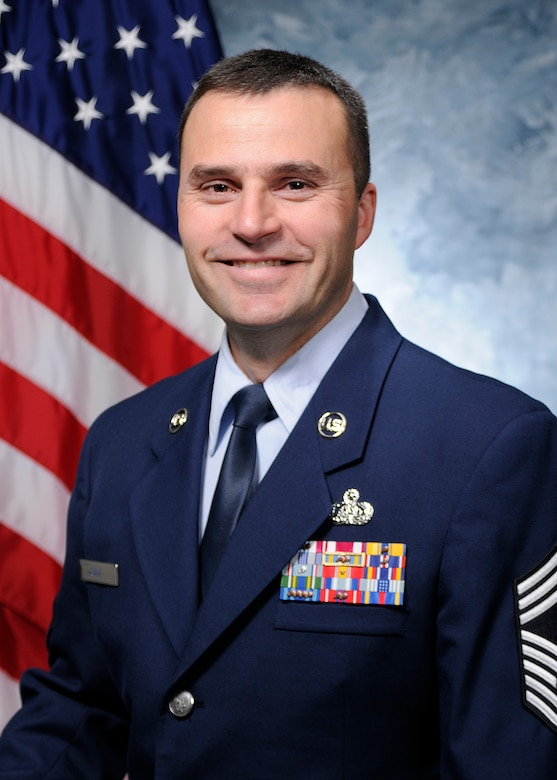 SCHRIEVER AIR FORCE BASE, Colo. -- Chief Master Sgt. Brian Sale, 50th Network Operations Group superintendent. (U.S. Air Force photo)