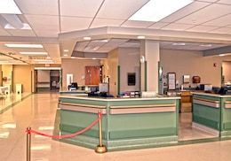 GRAND JUNCTION, Colo. — The new check-in area of a surgery floor addition at the Grand Junction Department of Veterans Affairs Medical Center awaits patients here, March 23, 2012. The U.S. Army Corps of Engineers Sacramento District's Utah resident office managed construction of the $13 million addition, which added a 30,000-square-foot surgery floor.