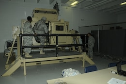JOINT BASE MCGUIRE-DIX-LAKEHURST — Soldiers training on the Battle Lab's high tech training simulators that will prepare them for battle.