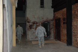 JOINT BASE MCGUIRE-DIX-LAKEHURST — Soldiers train in actual mark ups of Iraq towns like this one.