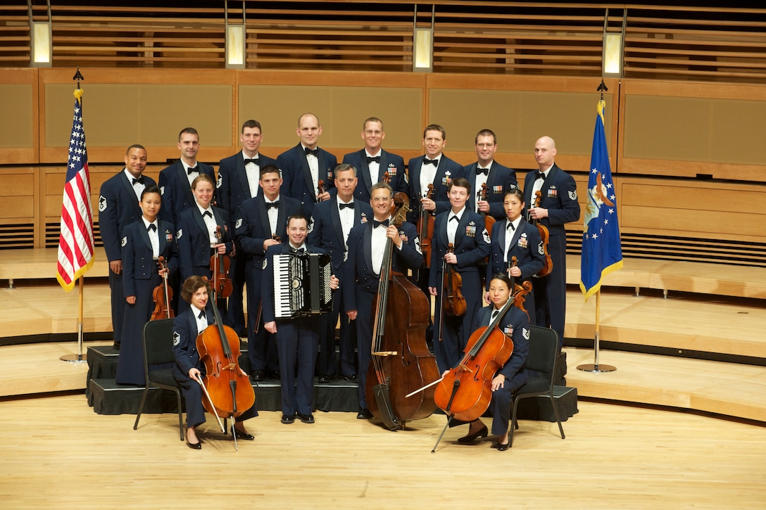 The United States Air Force Strings is comprised of 22 world-class musicians. Each of these outstanding performers has studied and perfected their craft at leading colleges, universities and music conservatories around the world. A performance by The United States Air Force Strings reflects a combination of immense collective musical experience with the boundless dedication to perfection.