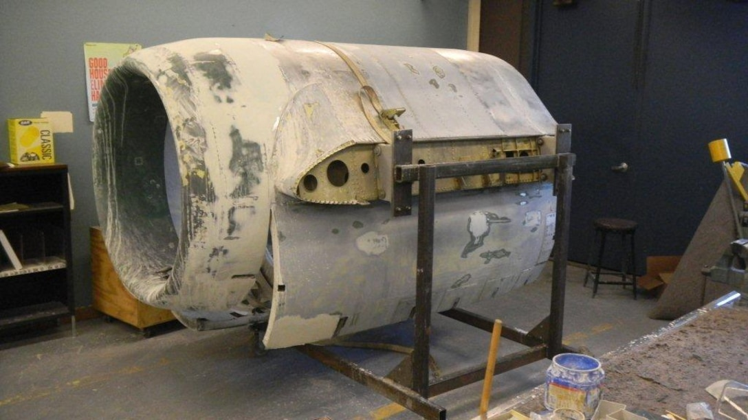 A-10A 80-0258 Cowling is rebuilt to its orignal destruction after being hit by an Iraqi missile in the right engine on April 8, 2007. (Air National Guard Photo by Master Sgt. Sonia Pawloski/Released)