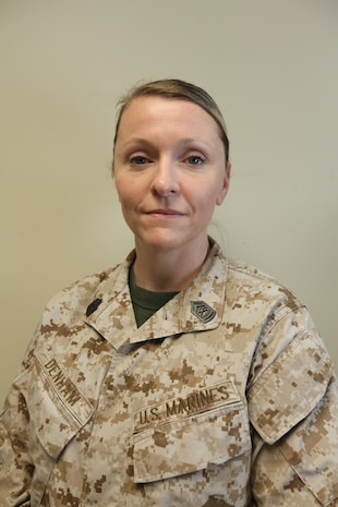 Master Sgt. Kathryn Denham, will spend the next three years as a congressional liaison for the Marine Corps.
