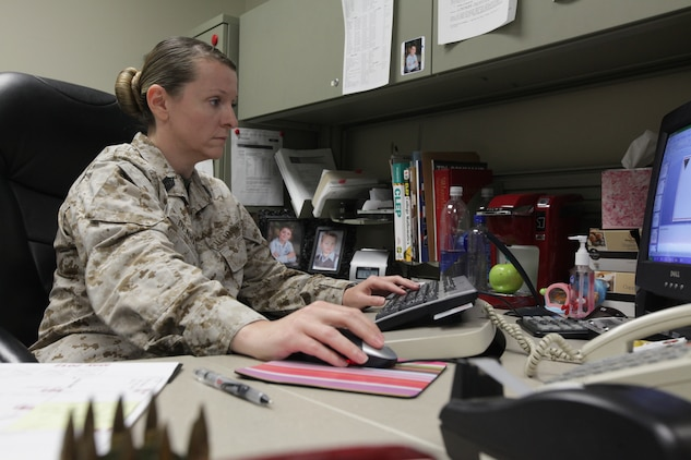 Master Sgt. Kathryn Denham, Air Station operations chief, and the only Marine from Tri-Command to apply for the Congressional Fellowship Program, was selected in February for the opportunity beginning this fall.::r::::n::::r::::n::