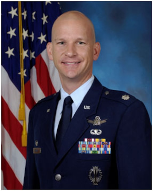 Lt. Col. David Hanson, 23rd Space Operations Squadron commander (U.S. Air Force photo)