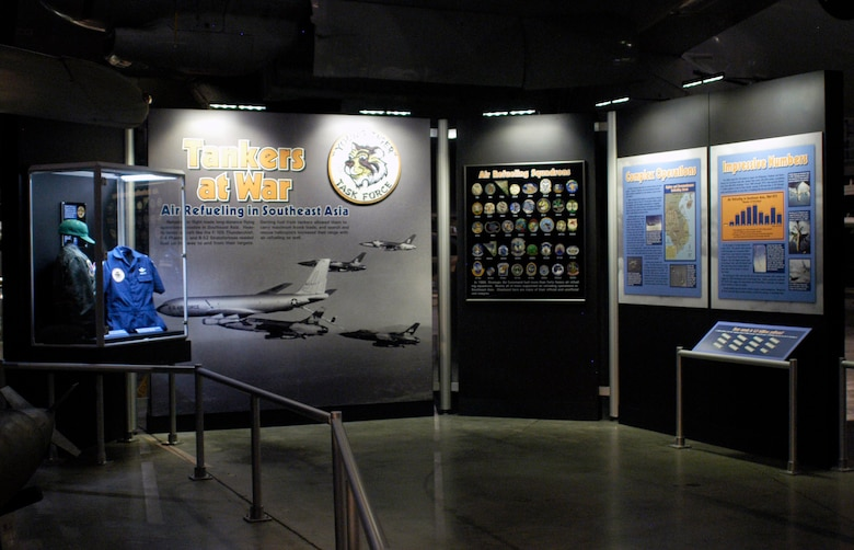 "DAYTON, Ohio -- ""Tankers at War: Air Refueling in Southeast Asia"" exhibit in the Southeast Asia War Gallery at the National Museum of the U.S. Air Force. (U.S. Air Force photo)"