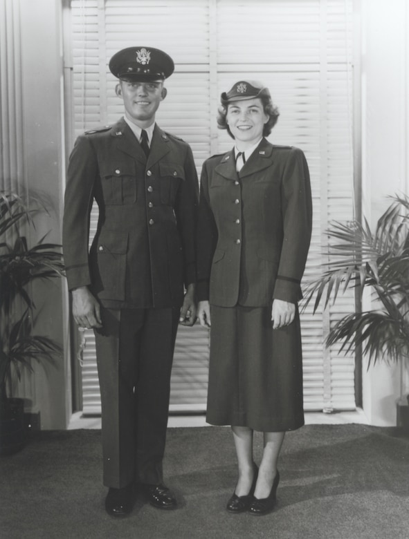 First uniforms for the new U. S. Air Force -- early 1950's.