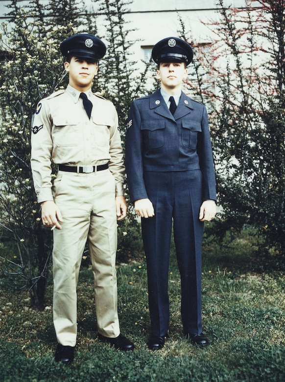 First uniforms for the new U. S. Air Force--early 1950's.