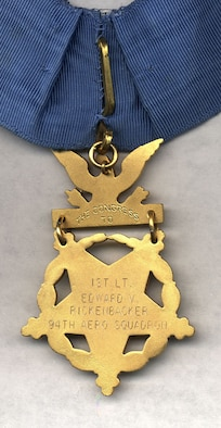 Capt. Eddie Rickenbacker Medal of Honor. (U.S. Air Force photo)