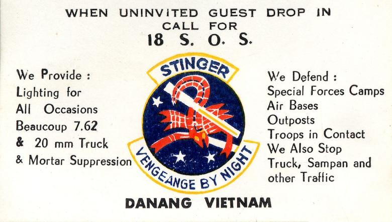 "Stinger ""business card."" (U.S. Air Force photo)"