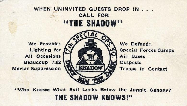 "Shadow ""business card."" (U.S. Air Force photo)"