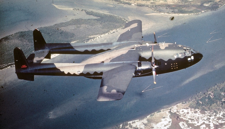 Most gunships, like this AC-119G, were painted black on the bottom. It made them less visible from the ground at night. (U.S. Air Force photo)