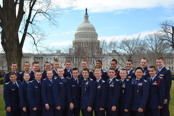 Civil Air Patrol cadets from all over the country got to participate in a week-long in-depth tour of D.C. called the Civic Leadership Academy which allows cadets to see D.C. from the perspective of those who work there (Legislative, Executive and Judicial familiarizations). Their week ended with meeting the AFCOS at the Spaatz Banquet, some of who got their Spaatz Award presented to them. Photograph submitted by Senior Airman Jonathan Khattar.