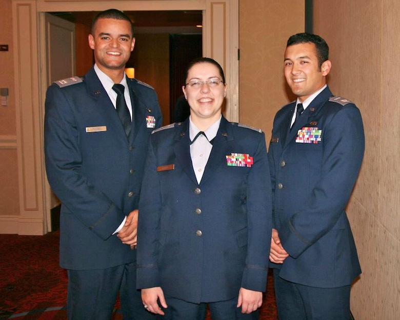Civil Air Patrol Captain McCoy, Captain Stapf and Captain Khattar serve as members of the Aide de Camp staff for the CAP National Commander, Maj. Gen Charles Carr. Photograph submitted by Senior Airman Jonathan Khattar.
