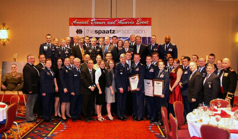 Spaatz Association group photo. All members are currently or have been Spaatz Cadets and are posing with Gen Schwartz the AFCOS. Photograph submitted by Senior Airman Jonathan Khattar.