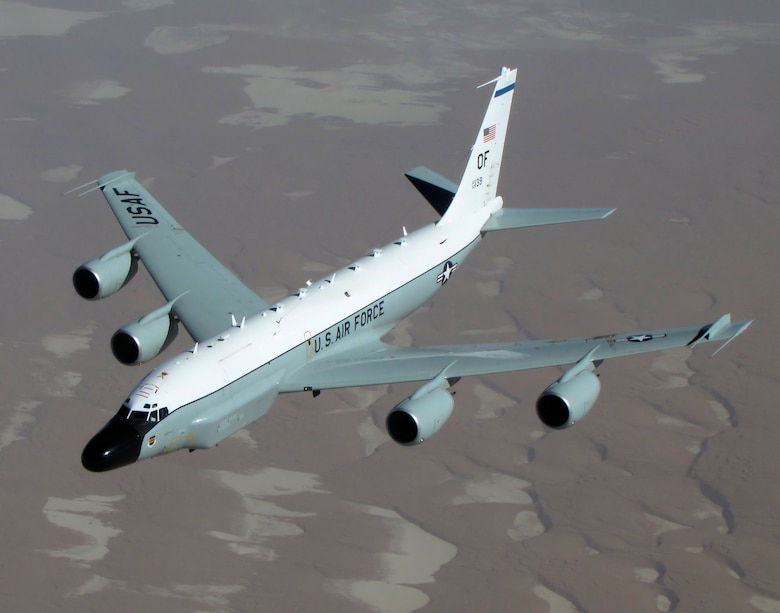 The RC-135V/W Rivet Joint reconnaissance aircraft supports theater and national level consumers with near real time on-scene intelligence collection, analysis and dissemination capabilities.
