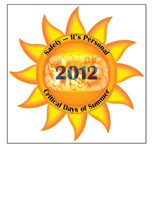 The Critical Days of Summer sun logo is intended to be a recognizable Safety Summer Campaign illustration. Other variations of the sun logo will be customizable for the individual Major Commands to tailor as they deem appropriate for their command.