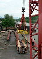 PENNSYLVANIA — Employees of the U.S. Army Corps of Engineers Pittsburgh District's Structural Design Section and Weld Shop at PEWARS designed and fabricated this lifting device for