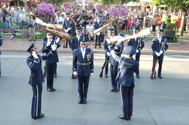 The U.S. Air Force Honor Guard Drill Team participated in the Torrance Armed Forces Day Celebration weekend May 18-20 and concluded their stay in Southern California by going to Disneyland.