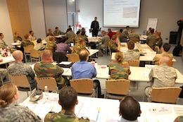 WIESBADEN — More than 50 students from six NATO countries attended a four-day engineering course, the week of May 15 at the Wiesbaden Entertainment Center, designed to teach the basic development, planning, execution, and closure processes of a base camp downrange.