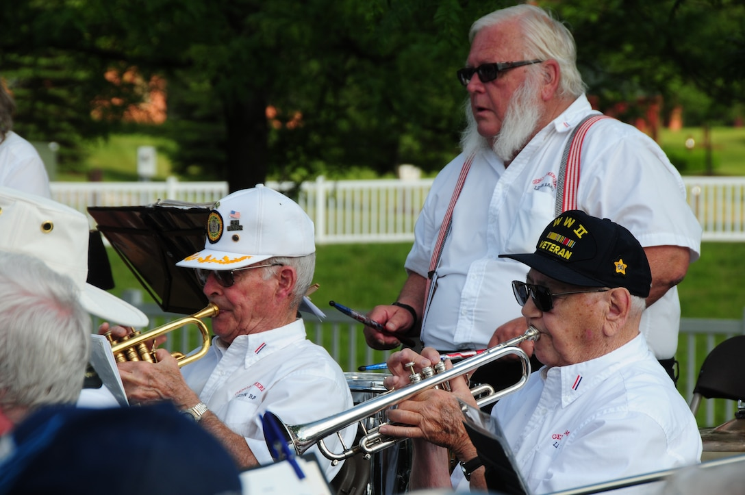 The Genoa American Legion Band performs at Lutheran Village, an assisted and independent living community, in Toledo, Ohio, May 30, 2012. Lutheran Village and Airmen from the 180th Fighter Wing held a ceremony for residents who had served in the U.S. Armed Forces. (U.S. Air Force photo by Senior Airman Amber Williams/Released)