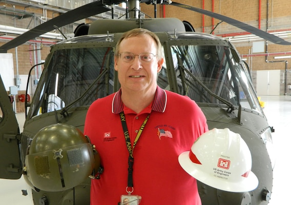 As one of the District's construction control inspectors, Eric Procter spends his time reviewing reports, checking submittals, observing contractor activities, monitoring safety compliance, researching codes and consulting with the project engineer.  He has been working on a new Army Aviation Support Facility for the New Mexico National Guard.