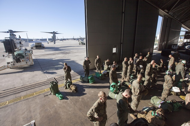 Marines and sailors with the 26th Marine Expeditionary Unit prepare to deploy aboard the USS Wasp (LHD-1) Nov. 1, 2012, in support of Hurricane Sandy disaster relief efforts in New York and New Jersey. The 26th MEU is able to provide generators, fuel, clean water, and helicopter lift capabilities to aid in disaster relief efforts. The 26th MEU is currently conducting pre-deployment training, preparing for their departure in 2013. As an expeditionary crisis response force operating from the sea, the MEU is a Marine Air-Ground Task Force capable of conducting amphibious operations, crisis response, and limited contingency operations.
