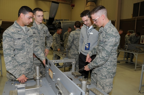 Airmen-in-Training at the 361st Training Squadron's propulsion