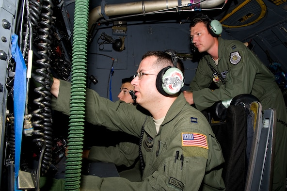 U.S. Air Force Capt. Matthew Prochazka, a MC-130H instructor navigator of 14th Weapons Squadron, instructs Airmen on techniques for integrating flight platforms at Hurlburt Field, Fla., Oct. 11,2012. Integration is also fundamental in creating a well rounded weapons officer and is one of the central tenets of the 14th WPS's course syllabi. (U.S. Air Force Photo/Airman 1st Class Michelle Vickers)