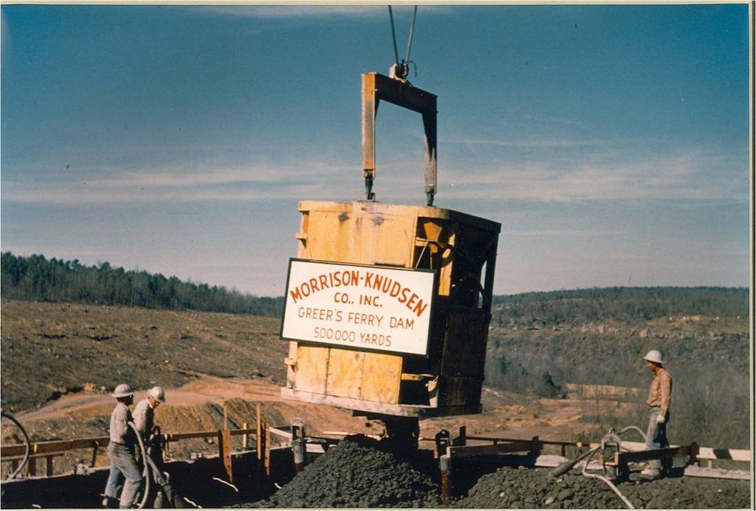 Greers Ferry Dam Construction circa 1959