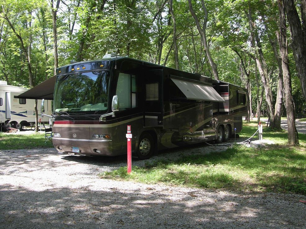 Camper at Roberts Creek County Park