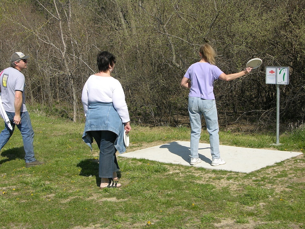 Disc Golfers at Roberts Creek