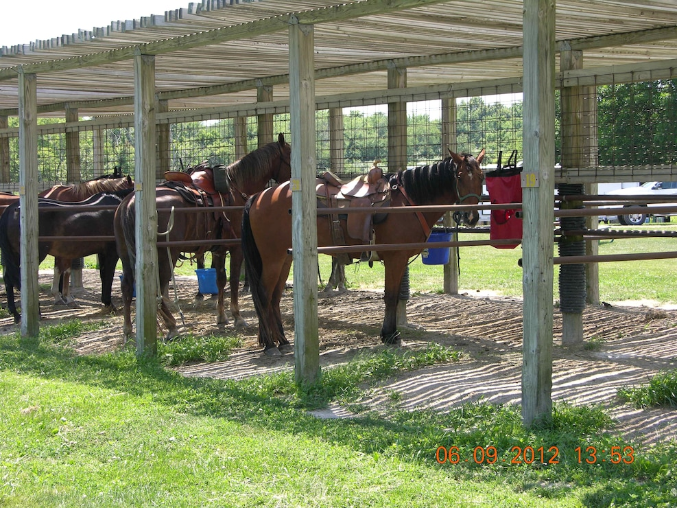 Horse stables at Elk Rock Equestrian Campground