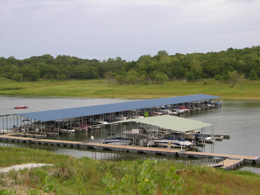 Boat slips at Red Rock Marina