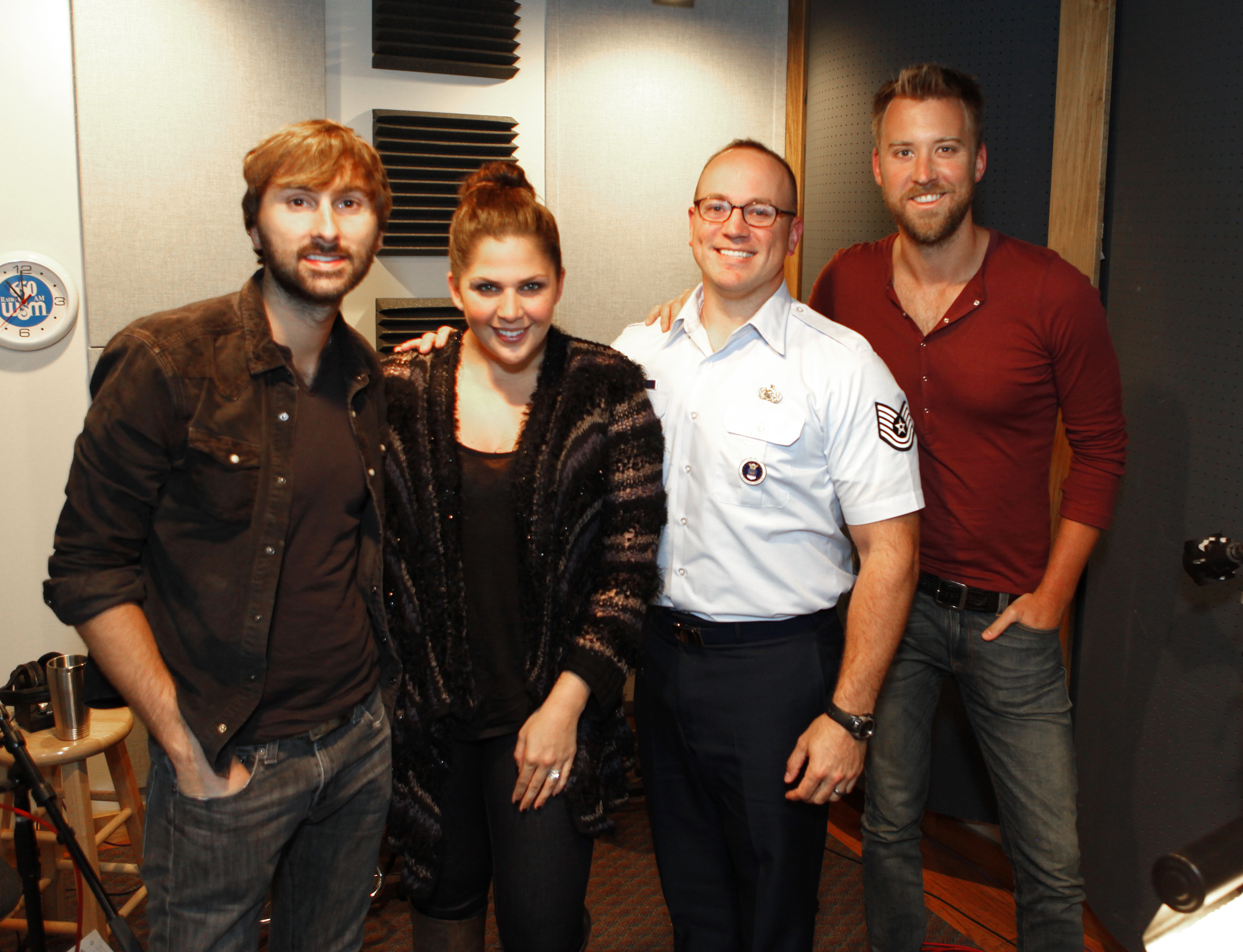 lady antebellum featured on air force christmas radio program