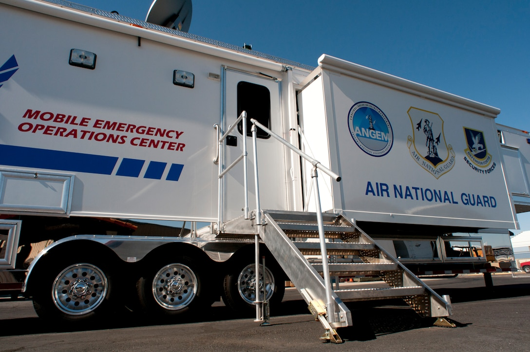 Mobile Emergency Operations Center (MEOC) located at the Tucson International Airport, 162nd Fighter Wing. (U.S. Air Force photo/Master Sgt. David Neve